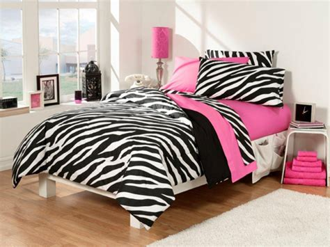 pink and zebra bedroom ideas 30 piece dorm room in a bag set