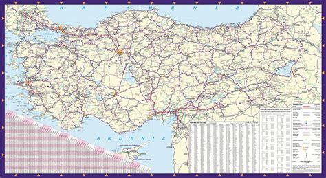 turkiye karayollari haritasi  guncel buyukboy
