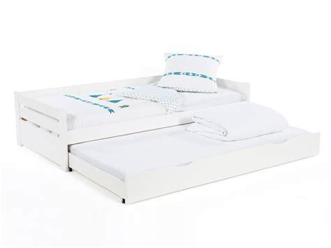 meuble rangement bureau 3394 lit gigogne en bois 90x190 cm avec 1 sommier 224 lattes et 1