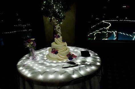 illuminated cake table my tucson wedding