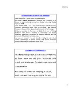 Self Introduction Speech Outline Exle by Self Introduction Speech Free