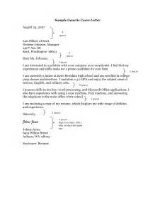Sle Cover Letter For An Unadvertised generic cover letter 31 images generic cover letter
