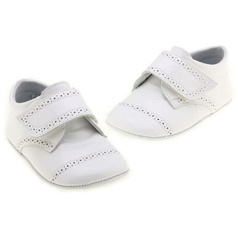 baby boys white shoes leather patent shoes cachet