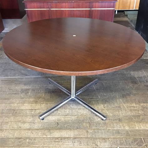 48 conference table 48 quot wood veneer conference table cherry