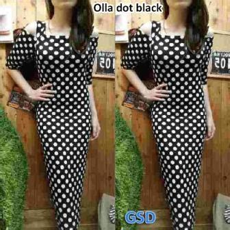 Dress Murah Olla By Akcstore olla dot black grosir tanah abang baju import