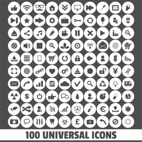 universal icons vector free download