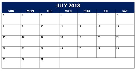 Editable July 2018 Word Calendars Templates Calendarbuzz 2018 Editable Calendar Template