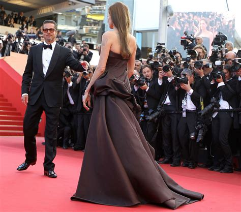 Cannes Festival Brad Pitt And Get Shady by Carpet Dress Evening Gown Cannes