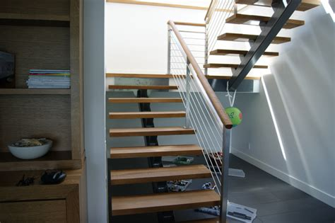 Home Decor Victoria Bc by Oak Amp Stainless Steel Interior Railing Contemporary