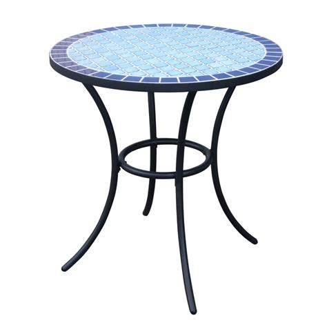 patio bistro tables shop garden treasures pelham bay 4 seat black steel