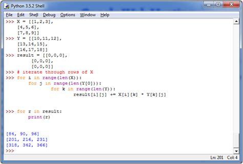 python tutorial javatpoint python multiply two matrices javatpoint