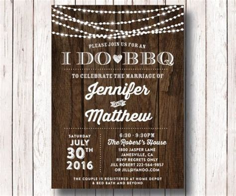barbecue wedding reception invitations i do bbq wedding reception invitation i do bbq couples