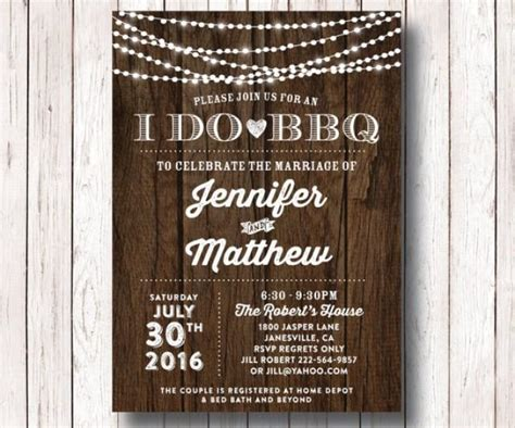 I Do BBQ Wedding Reception Invitation, I Do BBQ Couples