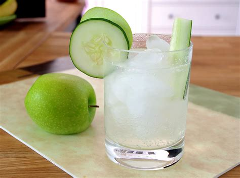 sour apple cucumber and sour apple gin fizz recipe amazing food