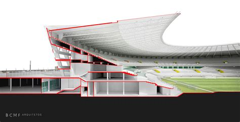 Stadium Sections by Gallery Of Mineir 227 O Stadium Bcmf Arquitetos 38