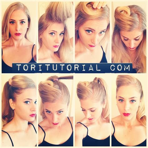 how to do retro hairstyles for women retro ponytail go to toritutorial com for full