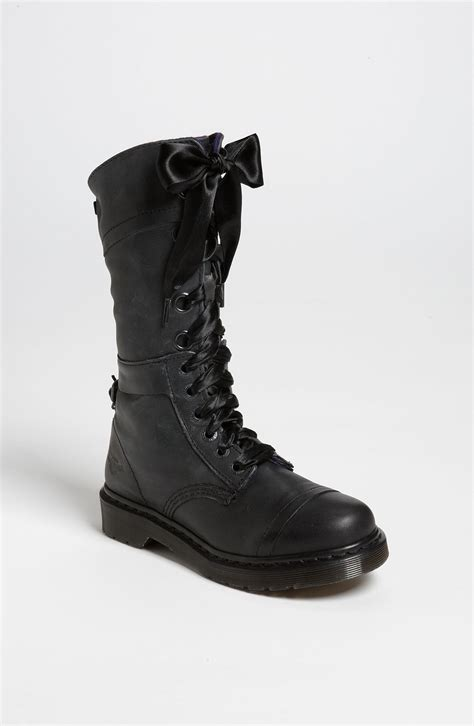 doc martens shoes dr martens triumph boot in black black leather lyst