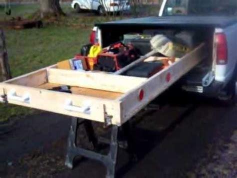 build your own truck bed slide out truck bed slide out plans bed plans diy blueprints