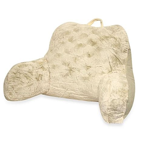 buy backrest pillow from bed bath beyond buy crystal fur backrest in ivory from bed bath beyond