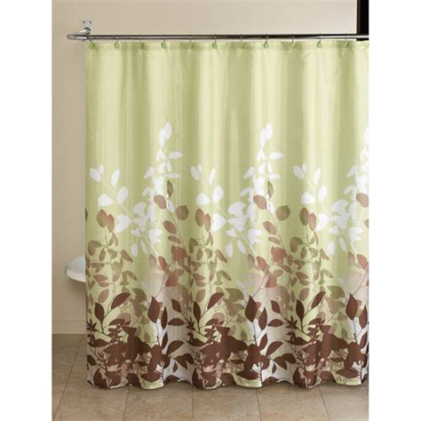 walmart shower curtains sets mainstays 13pc fabric shower curtain and decorative hooks