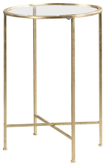 gold coast mirrored end table contemporary side