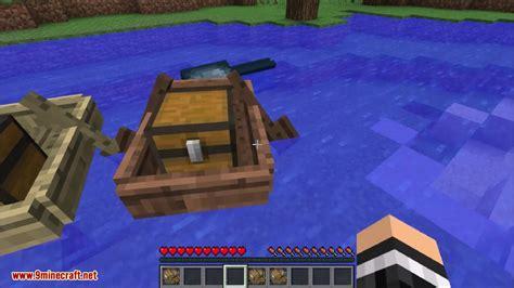 minecraft chest on boat minecraft storage boats mod 1 12 2 1 11 2 travel around