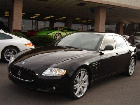 maserati black 4 door find used 2010 maserati quattroporte base sedan 4 door 4