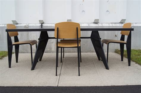 Oak Dining Suite Table Four Dining Suite With Em Table And Four Standard Chairs By Jean Prouv 233 For Vitra At 1stdibs
