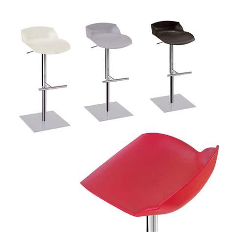 sgabello in plastica sgabello regolabile in acciaio con seduta in plastica