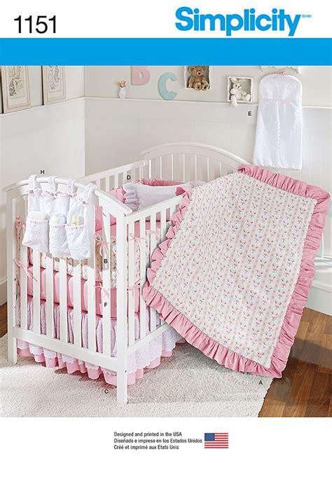 Crib Bedding Patterns Simplicity Simplicity 1151 Nursery Accessories