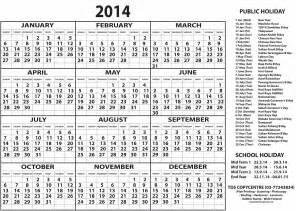 Calendar Template 2014 Free by Kalendar 2014 Printable 2014 Calendar Printable 2014