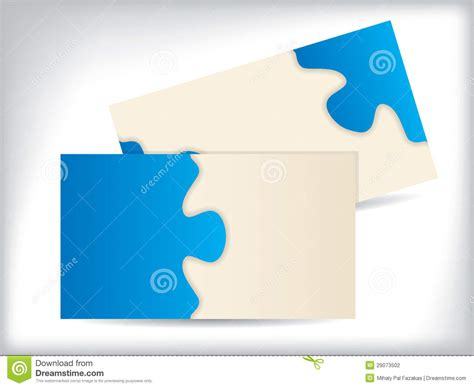 puzzle cards business card with puzzle design stock photography image