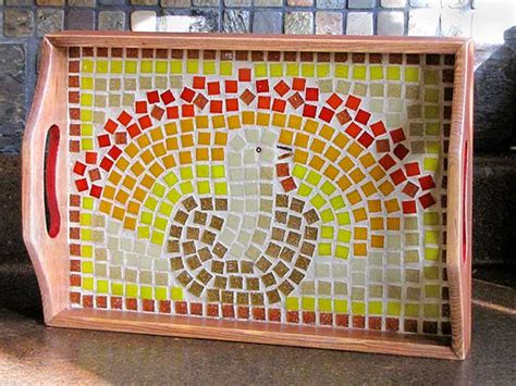 mosaic craft projects thanksgiving mosaic platter project woo jr activities