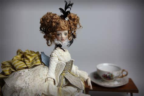 porcelain doll on carousel 15 quot carousel ova porcelain bjd doll