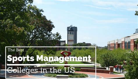 best sports management schools the 50 best sports management colleges in the us