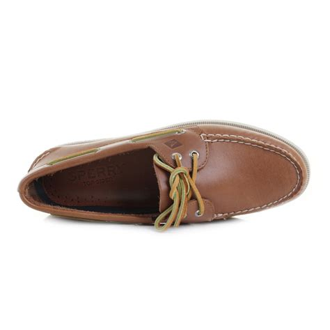 sperry mens leather boat shoes mens sperry authentic original a o 2 eye tan leather boat