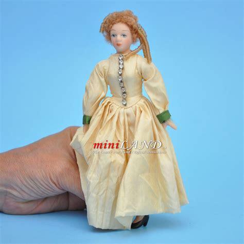 5 porcelain dolls in ivory gown porcelain doll 5 5 quot h