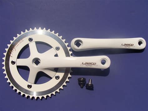 Crank Fixie Lasco By Mybikestore new white lasco 46t crank set single speed fixie fixed