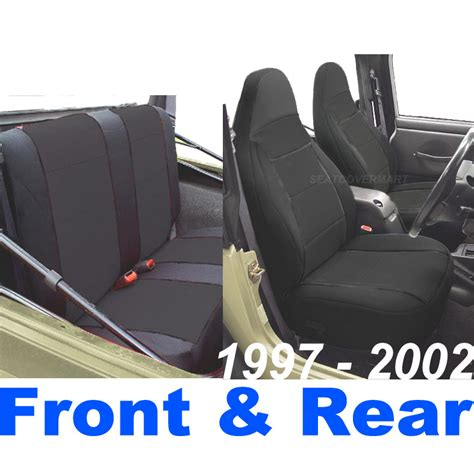 2001 jeep wrangler sport seat covers neoprene seat cover set black color for 2000 2001 tj