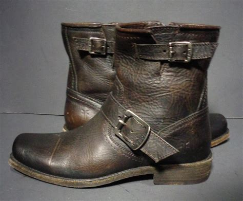 best short motorcycle boots frye brown leather short motorcycle boots women 039 s by