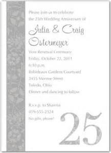 50th wedding anniversary invitation wording sles in wedding invitation ideas
