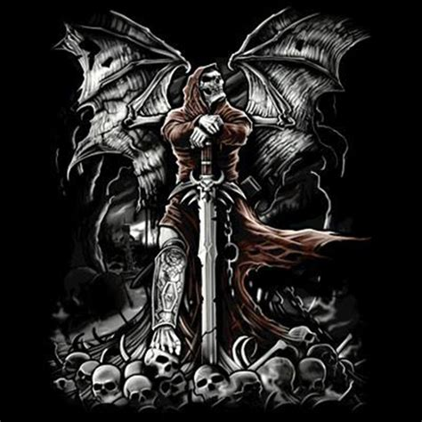 T Shirt Cotton Gildan Aguilas t shirt custom design gravestone grim reaper sword