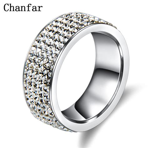 metal rings for jewelry 5 rows stainless steel ring for
