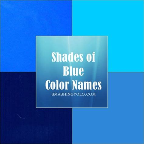 shades of blue color names 20 different shades of blue color names photo
