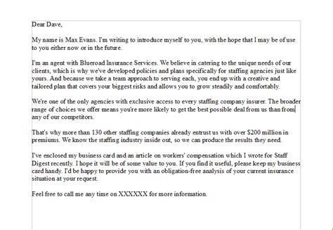 sales prospecting letter   sales person