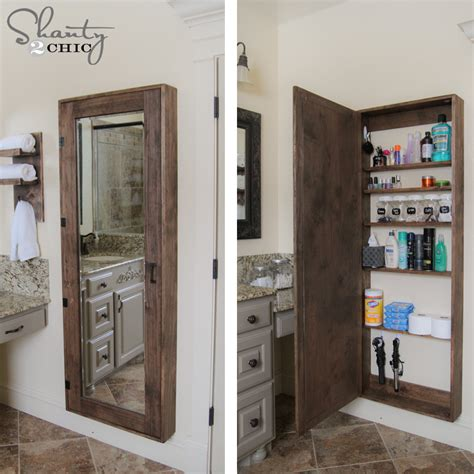 Ideas For Bathroom Storage Diy Bathroom Mirror Storage Bathroom Storage Storage Ideas And Small Bathroom