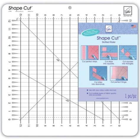june tailor shape cut slotted ruler 730976079600 quilt