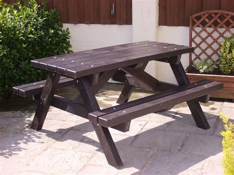 plastic benches uk ribble picnic table recycled plastic trade