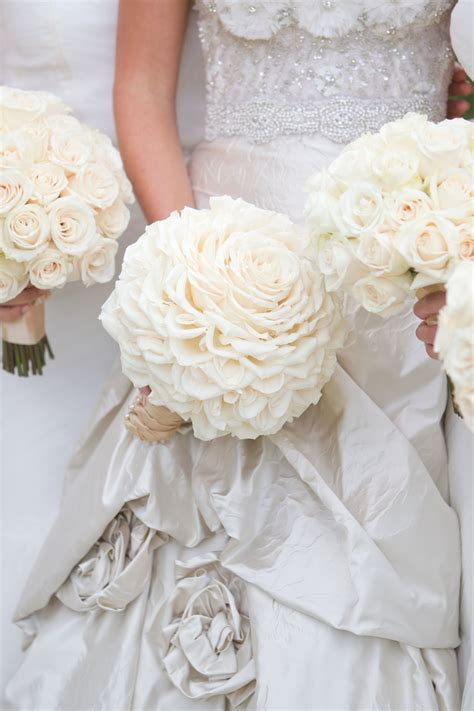 All Wedding Flowers by All White Country Club Wedding With