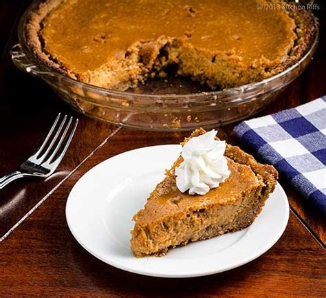 kitchen riffs sweet potato pie with walnut crust